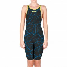 Women's Powerskin Carbon-Air Full Body Short Leg Open Back Ltd. Edition 2017(black/bright blue)