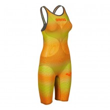 Arena Women's Powerskin Carbon-AIR² Open Back Lime Orange – FINA approved