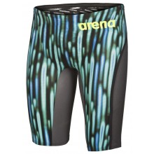 Arena Powerskin Carbon-Ultra Limited Edition Jammer  (blue drops/fluo yellow) 001664-765