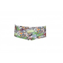 Arena M Summer Comics Low Waist Short(Shiny Green-Multi ) 001744661