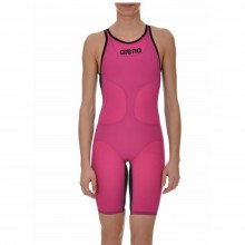 ARENA Women's Powerskin CARBON-AIR Open Back (FUCHSIA-TITANIUM BLUE)