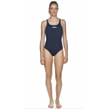 Women's Solid Swim Pro (navy-white)