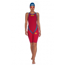 Arena Powerskin Carbon Flex VX Short Leg Open Back (Bright Red-Turquoise)
