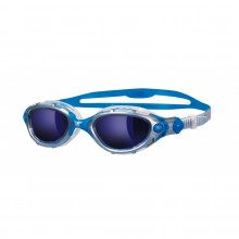 Zoggs Predator Flex Mirror Adult Swimming Goggles (silver/blue)