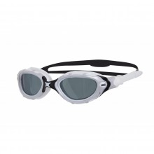 Zoggs Predator Flex Smoke Polarized Swimming Goggles (White/Black)