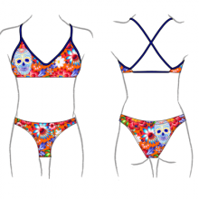 TURBO TOP BIKINI MARE FRESH SKULL