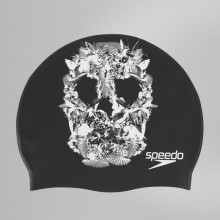 Slogan Print Cap (Black-White 3503)