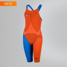 Fastskin LZR Racer Elite 2 Openback Kneeskin (Orange/Blue) 8-09170C565