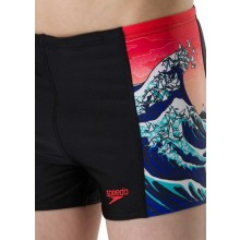 Speedo Boy's OrigamiWave Allover Panel Aquashort