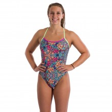 SPEEDO PSYCHEDELIC DREAMS CROSSBACK 1 PIECE(Black -Green)