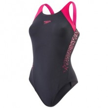Boom Splice Racerback Swimsuit (oxid/electric pink)