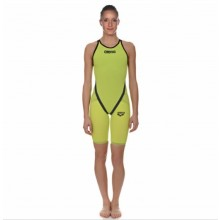 WOMEN'S POWERSKIN CARBON FLEX WCE 15 FULL BODY SHORT LEG OPEN BACK (Fluo Green,Steel Grey)