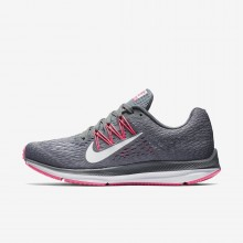 WMNS Nike Air Zoom Winflo 5  (Dark Grey/white -cool Grey AA7414 011)
