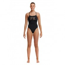 FUNKITA - LADIES STRAPPED IN ONE PIECE STRENCILLED
