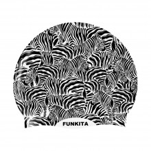 SILICONE SWIMMING CAP (ZEBRA CROSSING)