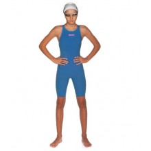 Girls' Powerskin R-EVO ONE open back  (Blue - Powder Pink )  001775143