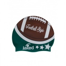 Swim cap FOOTBALL  (GREEN) JWCUS09001