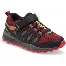 SAUCONY PEREGRINE SHIELD A/C  (BLACK/RED)