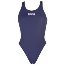 Women's Solid Swim Tech High (navy)