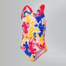 29a4a95cf04 Disney Mickey Mouse Allover Swimsuit (Blue/Red) 8-07386C820