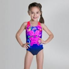 b2c15a05874 Shimmer Bounce Essential Applique One Piece Swimsuit ( Navy/Pink)  8-10412c598