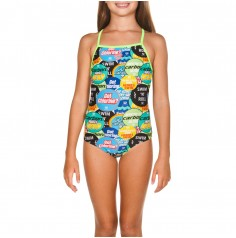 Girl's Watchword One Piece (lining)(Shiny Green-Multi ) 001650661