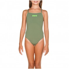 G SOLID SWIM LIGHTECH JR (Army-Shiny Green) 2A264656