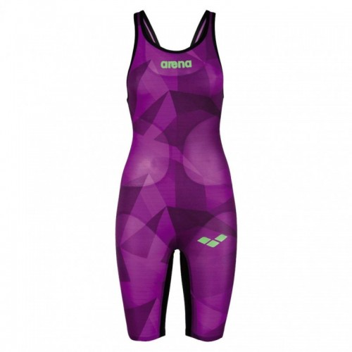 WOMEN'S POWERSKIN CARBON-AIR FULL BODY SHORT LEG OPEN BACK LTD EDITION 2016(Plum Crystal-Black) 2A94595
