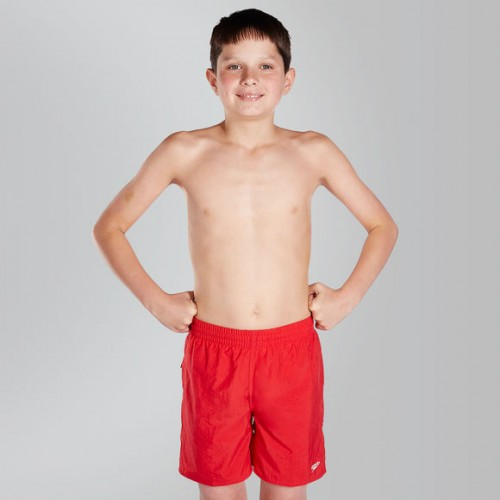 """Solid Leisure 15"""" Swim Shorts (red)"""