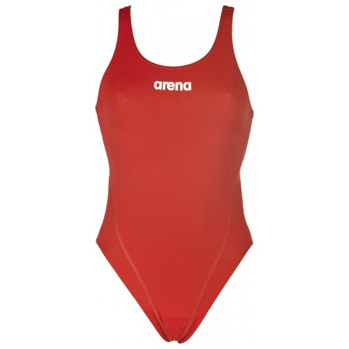 Women's Solid Swim Tech High (red,white)